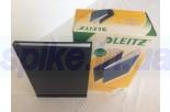 Обложка с вклееным каналом 7 мм (Leitz) А4 «Лён», цвет чёрный (книжный вариант переплёта)