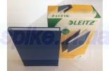 Обложка с вклееным каналом 14 мм (Leitz) А4 «Лён», цвет синий (книжный вариант переплёта)
