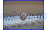 Металлические плечики для календарей, длина 250мм, белый,черный