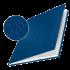 Обложка с вклееным каналом 21 мм (Leitz) А4 «Лён», цвет синий (книжный вариант переплёта)