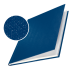 Обложка с вклееным каналом 24.5 мм (Leitz) А4 «Лён», цвет синий (книжный вариант переплёта)