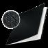 Обложка с вклееным каналом 14 мм (Leitz) А4 «Лён», цвет чёрный (книжный вариант переплёта)
